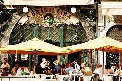 Sip of coffee in Lisbon